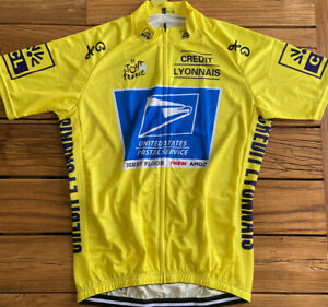 """USPS RACE LEADER'S YELLOW TEAM CYCLING JERSEY XL 42"""" NEW FREE SHIPPING !!"""