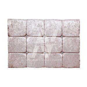 Cubic Designer Crushed Velvet Upholstery Headboard 4ft 4ft6 Double 5ft King Size