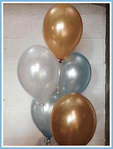 30x Man City Football Shades - Pearlised Latex Balloons, (Helium Quality)