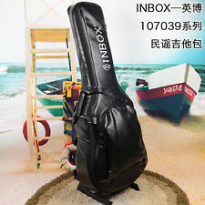 "Inbox Duluxe 39""/41"" Classic / Acoustic Guitar bag Soft case PU Leather Gig bag"