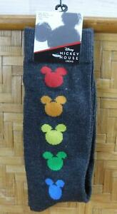 Disney Mickey Mouse Crew Socks Rainbow Colors Size 10-13 Pride New SS04