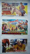 WESTERNS//F14F/ LOT 9 affiches BELGES