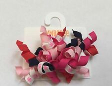 NWT GYMBOREE HAPPY BIRTHDAY 2  PINK BLUE WHITE GREEN HAIR CORKERS CURLIES CLIPS