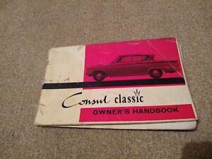 FORD CONSUL CLASSIC 315 OWNERS OPERATORS handbook DRIVERS MANUAL 1961