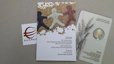 2 euro 2004 fdc folder ITALIA 50 WFP Italie Italy Italien Италия 意大利 イタリア Włochy