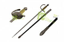 """35"""" Medieval Rapier Saber Sword with Scabbard NEW"""