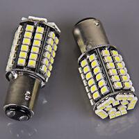 2x Super Bright 80SMD BAY15D 1157 Xenon White Tail Stop Brake Light LED Bulb 12v