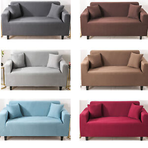 1 2 3 4 Seater Stretch Sofa Slipcovers Elastic Couch Loveseat Cover Protector