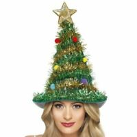 Adult Christmas Tree Hat With Star Novelty Fun Fancy Dress Xmas Party Headwear