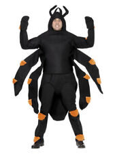 Adult Scary Spider Costume Halloween Insect Fancy Dress Outfit Men's Women's
