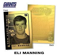 ELI MANNING 2003 LIMITED EDITION 23KT GOLD ROOKIE CARD! NEW YORK GIANTS!!