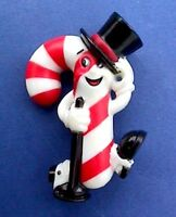 Hallmark PIN Christmas Vintage CANDY CANE MAN Anthropomorphic TAP Dancer Holiday
