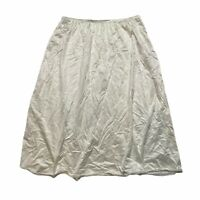 Vanity Fair VTG Silky Soft Nylon Lace Trim Half Slip Ivory Womens M Medium