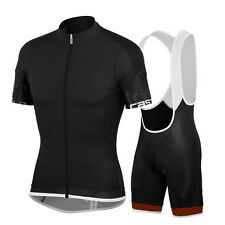 Men Cycling Jersey Padded Bib Knicks Men's Short Sleeve Cycle Clothing Set