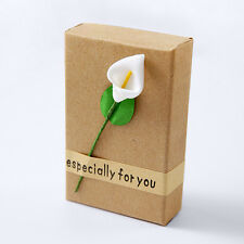 Hot Calla Lily Kraft Paper Box Ring Earring Necklace Bracelet Favor Gift Box