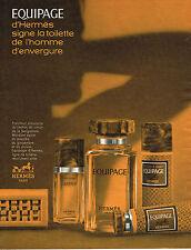 PUBLICITE ADVERTISING 045  1973  EQUIPAGE D'HERMES  ligne toilette homme