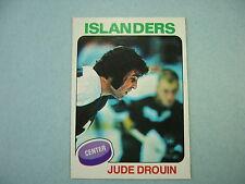 1975/76 O-PEE-CHEE NHL HOCKEY CARD #224 JUDE DROUIN NM SHARP!! 75/76 OPC