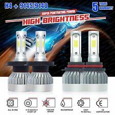4X H4 9003+9145 LED Headlight Foglight White 6000K For Toyota Tacoma 05-11 3400W