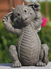 Gartendrache schneidet Grimasse - Garten, Figur, Lustig