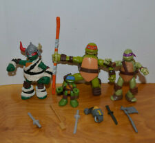 TMNT ACTION FIGURE LOT NINJA TURTLES NICKELODEON DONATELLO RAPHAEL 2014
