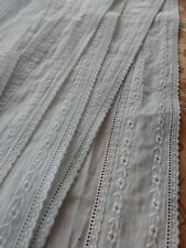 """New listing 5"""" wd Embroidered Lace Trim vintage antique 2+ yards Floral design flounce skirt"""