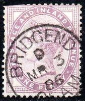 1881 SG 172 ½d lilac with Bridgeend Single Circle Cancellation