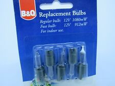 B and Q Xmas Bulbs 12v 1080mw Clear ( Notched With Fuse )