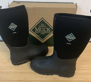 NEW Original Muck Chore Classic Hi Black Work Boots Sz 12 Tall Waterproof