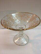Cambridge Gold Rosepoint Compote