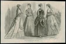 1868 -  Antique Prints FRANCE Paris Fashions for August   (060)