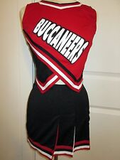 "BUCCANEERS Real High School Cheerleader Uniform Cheer Outfit 34"" Top 26"" Skirt"