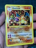 Handmade Proxy Charizard/Glurak in Eng. shadowless Pokemon Card Circle Holo