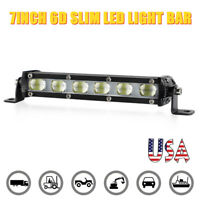 7inch LED Work Light Bar Slim Spot Fog SUV Truck Driving Lamp Offroad ATV 4WD US