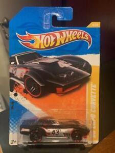 2011 Hot Wheels New Models '69 Copo Corvette #4 Black (Plain Card)
