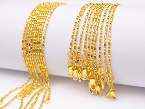 5PCS 28inch 18KGF Gold Filled Ball Chain Making Pendant Necklace Accessories