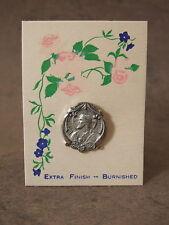 Vintage Catholic Lapel Pin Brooch SACRED HEART OF JESUS original card NOS