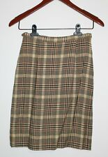 Vtg 1950s Personal Union Made Ladies Garment Talon Zipper Plaid Pleated Skirt XS