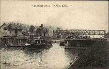 VERBERIE Oise CPA ~1910 Écluse Schiff in Schleuse Carte Postale Vintage Postcard