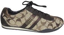 Womens COACH 9 Katelyn Canvas LaceUp Metallic Walking SHOES Fashion Sneakers