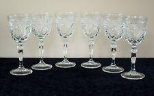 6 CRISTAL D'ARQUES ANTIQUE WATER GOBLETS (12 AVAIL) DURAND LUMINARC STEM GLASS