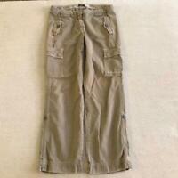 Y2K J Crew khaki cargo pants 2000s mid rise size 6 petite