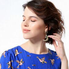 Star Crystal Fashion Earrings Blue Moon Gold Women Drop Elegant Big Dangle