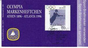 Bund  Markenheftchen für den Sport  1996  Eiskunstlauf  **