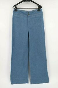 Anthropologie women's 28 pilcro and the letterpress linen blend wide leg pants