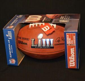 SUPER BOWL LIII WILSON NFL FOOTBALL GAME BALL ENGLAND PATRIOTS LOS ANGELES RAMS