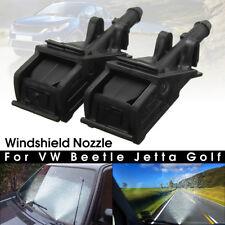 2Pcs Windshield Water Sprayer Jet Washer Nozzle For VW Beetle Jetta Golf MK4 GTI