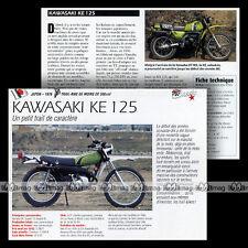 KAWASAKI KE 125 1976 - Fiche Moto Trail Bike 70's Motorcycle Card MRC