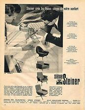 PUBLICITE ADVERTISING  1960   SIEGES STEINER