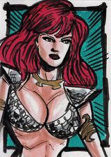 Breygent Red Sonja 2012 Sketch Card by Brian Kong