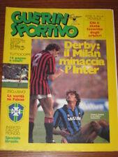 GUERIN SPORTIVO 1985/11 CALCIOMONDO SPECIALE BRASILE COPPE EURO FILM CAMPIONATO